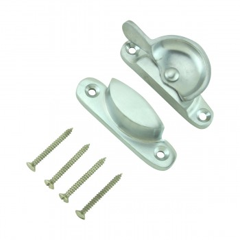 <PRE>Traditional Solid Brass Window Sash Lock Satin Chrome  </PRE>zoom12