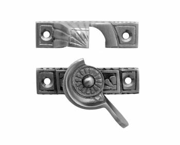 Ornate Solid Brass Window Sash Lock Satin Chrome 15441grid