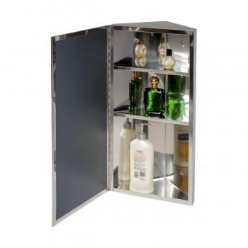 <PRE>Wall Mount Bathroom Corner Mirror Medicine Cabinet Polished Stainless Steel</PRE>zoom4