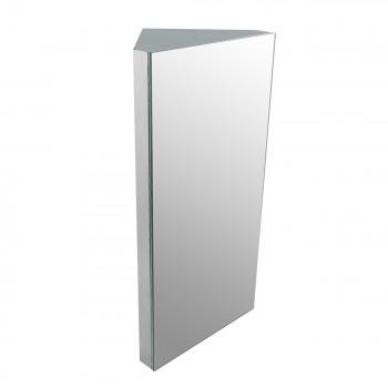 Wall Mount Bathroom Corner Mirror Medicine Cabinet Polished Stainless Steel Mirror Mirrored Stainless Steel RX Space Saving Bathroom Storage Aluminum Multi Shelf Bathroom