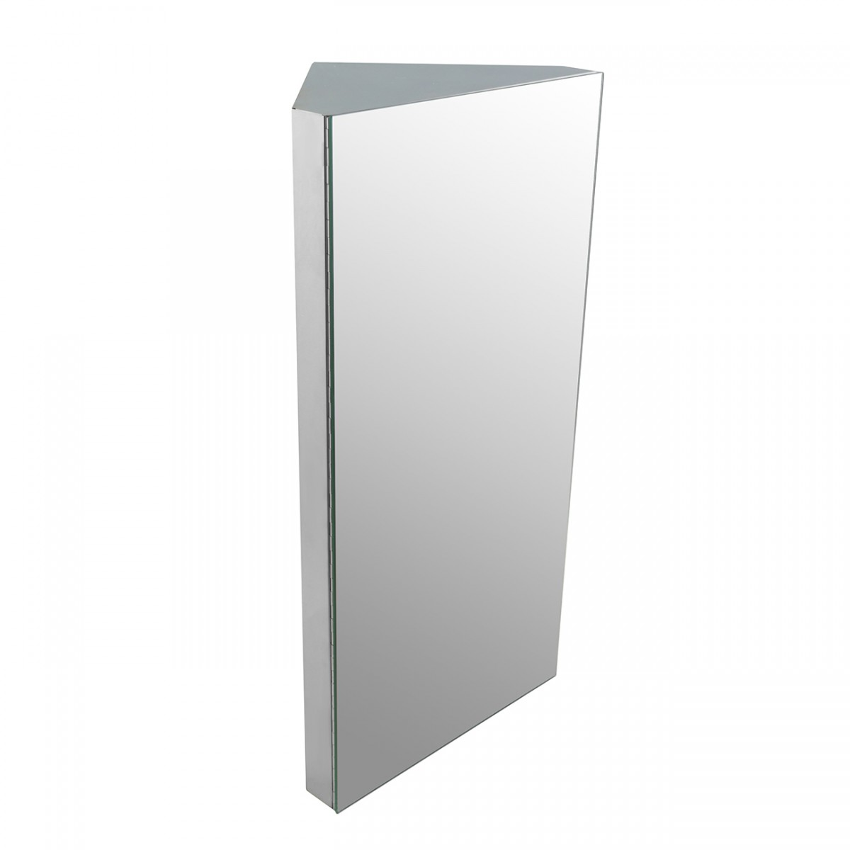 Polished Stainless Steel Medicine Cabinet With Mirror