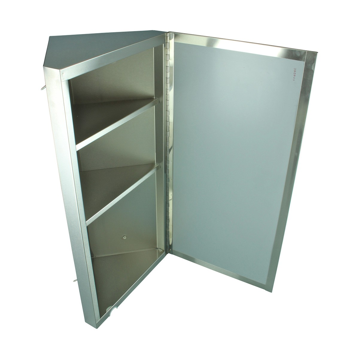Renovators Supply Brushed Stainless Steel Wall Mount Corner Medicine Cabinet Mirrored Medicine Cabinet Medicine Cabinet Organizer Medicine Cabinet Shelf