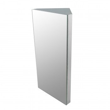 Renovator's Supply Wall Mount Corner Medicine Cabinet Brushed Stainless Steel15445grid