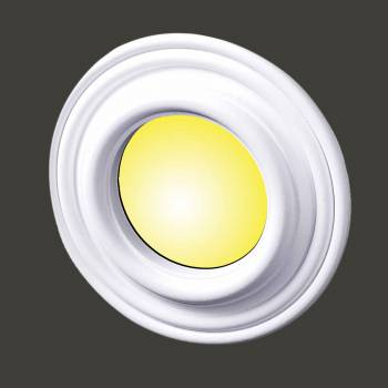 Recessed Spot Light Trim White Urethane Durable Foam 4 ID White Recessed Light Trim Decorative Recessed Lighting Trim Spotlight Ceiling Medallion
