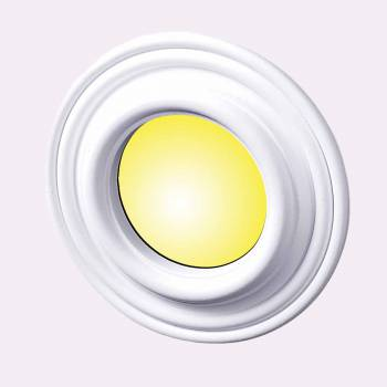 Ceiling Medallions - Recessed Lighting Trim Simple Design 5 in. ID x 9 in. OD by the Renovator's Supply