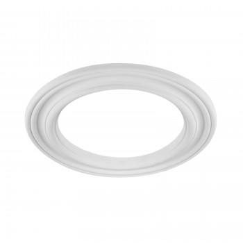 Spot Light Ring White Trim 8 ID x 12 OD Mini Medallion White Recessed Light Trim Decorative Recessed Lighting Trim Spotlight Ceiling Medallion