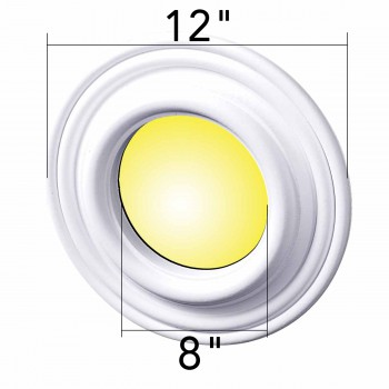 "spec-<PRE>Spot Light Ring White Trim 8"" ID x 12"" OD Mini Medallion </PRE>"