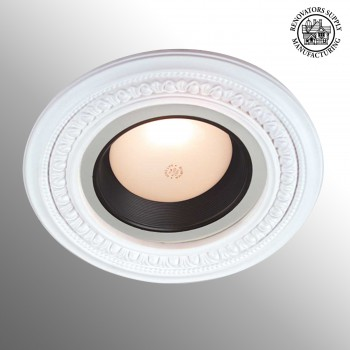 Mini Medallion Spot Light Ring White Trim 5 Inch ID x 9 Inch OD White Recessed Light Trim Decorative Recessed Lighting Trim Spotlight Ceiling Medallion