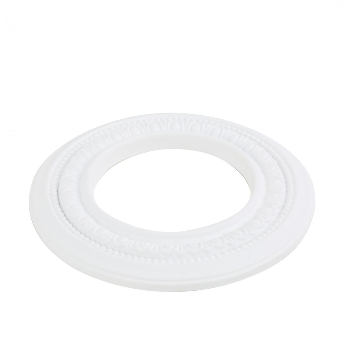 Mini Medallion Spot Light Ring White Trim 5 Inch ID x 9 Inch OD White Recessed Light Trim Decorative Recessed Lighting Trim Spotlight Ceiling Medallion
