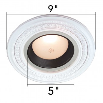 Ceiling Medallions - Recessed Lighting Trim Egg & Dart 5 in. ID x 9 in. OD by the Renovator's Supply