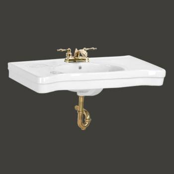 <PRE>Bathroom Console Sink Basin Only White China Belle Epoque  </PRE>zoom2