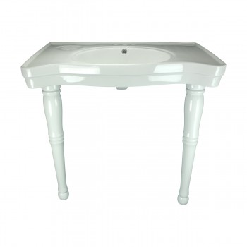 <PRE>Bathroom Console Sink Basin Only White China Belle Epoque  </PRE>zoom3