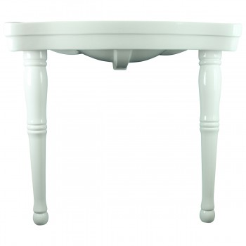<PRE>Bathroom Console Sink Basin Only White China Belle Epoque  </PRE>zoom4