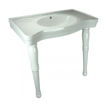 <PRE>Bathroom Console Sink Basin Only White China Belle Epoque  </PRE>zoom5