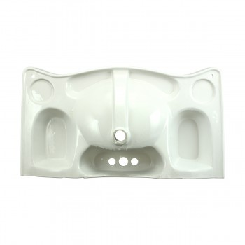 <PRE>Bathroom Console Sink Basin Only White China Belle Epoque  </PRE>zoom7