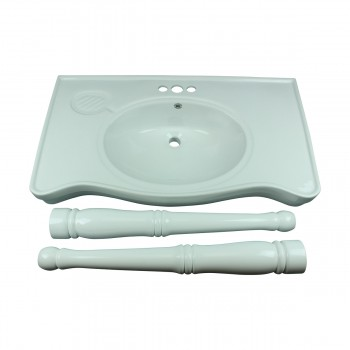 <PRE>Bathroom Console Sink Basin Only White China Belle Epoque  </PRE>zoom9