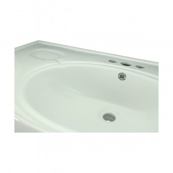 <PRE>Bathroom Console Sink Basin Only White China Belle Epoque  </PRE>zoom10