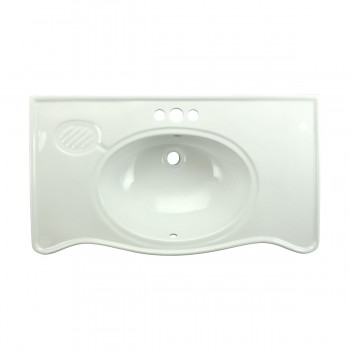 <PRE>Bathroom Console Sink Basin Only White China Belle Epoque  </PRE>zoom11