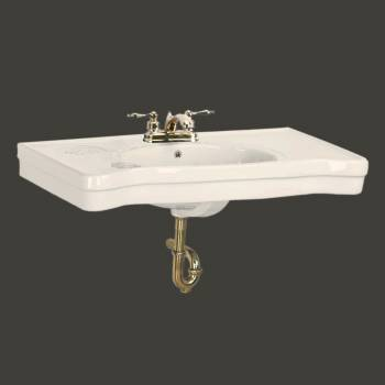 <PRE>Console Sink Belle Epoque Bone Vitreous China Wall Mount </PRE>zoom2