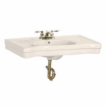 Console Sink Belle Epoque Bone Vitreous China Wall Mount 15460grid