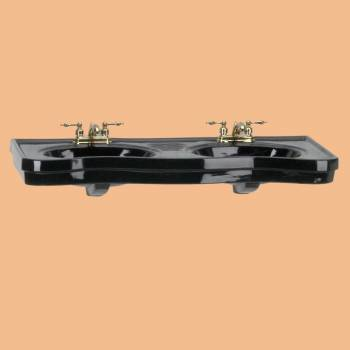 <PRE>inchBelle Epoque&quot; Black China Wall Mount Double Console Sink</PRE>zoom2