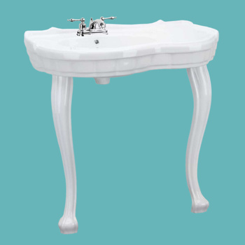 Centerset White Vitreous China Southern Belle Sink Two Provincial Legs