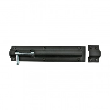 <PRE>Black Wrought Iron Tower Slide Bolt 8inch W </PRE>zoom4