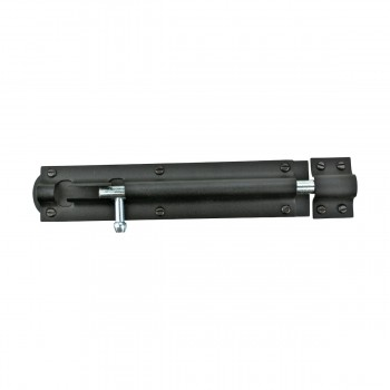 <PRE>Black Wrought Iron Tower Slide Bolt 8inch W </PRE>zoom6