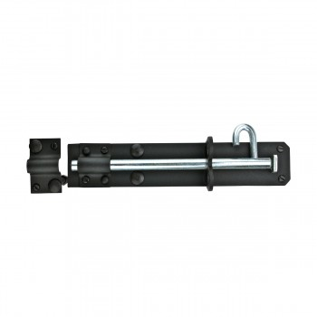 <PRE>Black Wrought Iron Slide Door Brenton Bolt 8inch </PRE>zoom5