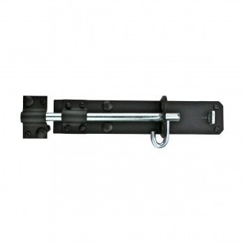 <PRE>Black Wrought Iron Slide Door Brenton Bolt 8inch </PRE>zoom7