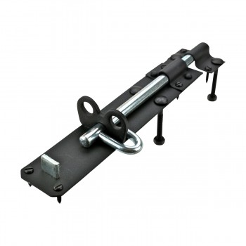 <PRE>Black Wrought Iron Slide Door Brenton Bolt 8inch </PRE>zoom13