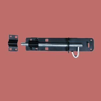 <PRE>Black Wrought Iron Slide Door Bolt 10inch </PRE>zoom2