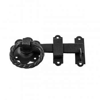 Floral Gate Latch Heavy Duty Wrought Iron  5 W
