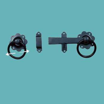 Floral Gate Latch Heavy Duty Wrought Iron 5 W Gate Latch Rust Proof Wrought Iron Gate Latch Backyard Gate Latch
