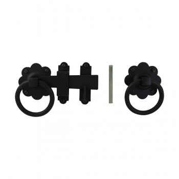 <PRE>Floral Gate Latch Heavy Duty Wrought Iron 5inch W </PRE>zoom5