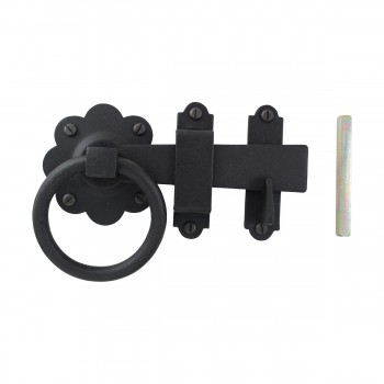 <PRE>Floral Gate Latch Heavy Duty Wrought Iron 5inch W </PRE>zoom6
