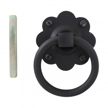 <PRE>Floral Gate Latch Heavy Duty Wrought Iron 5inch W </PRE>zoom7