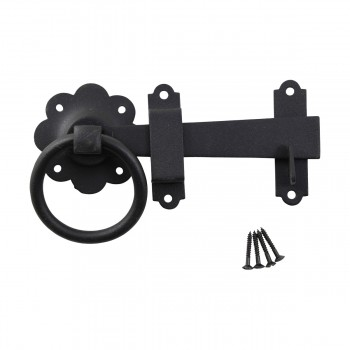 <PRE>Floral Gate Latch Wrought Iron Heavy Duty Rustproof Finish 7 in W </PRE>zoom3
