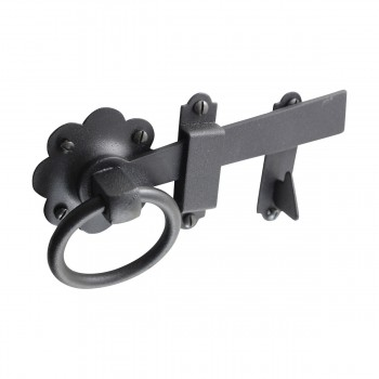 <PRE>Floral Gate Latch Wrought Iron Heavy Duty Rustproof Finish 7 in W </PRE>zoom8