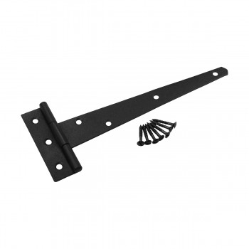 T Strap Door Hinge Black Iron RSF Finish Light Duty 9