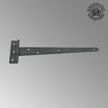 <PRE>T Strap Door Hinge RSF Black Iron Light Duty Hinge 11inch </PRE>zoom2