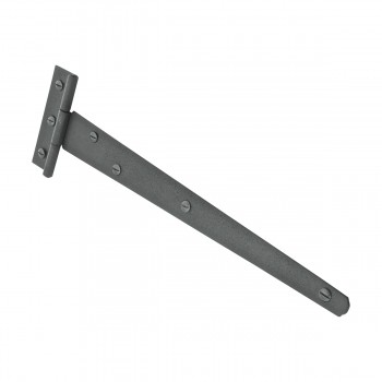 <PRE>T Strap Door Hinge RSF Black Iron Light Duty Hinge 11inch </PRE>zoom5