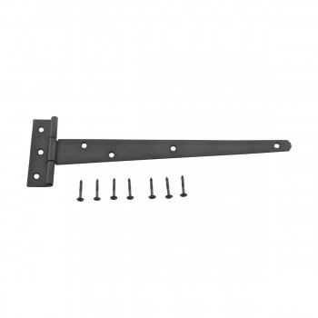 <PRE>T Strap Door Hinge RSF Black Iron Light Duty Hinge 11inch </PRE>zoom8