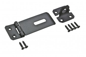 <PRE>Hasp Black Iron 1 3/4inch H x 4 1/4&quot; W </PRE>zoom1