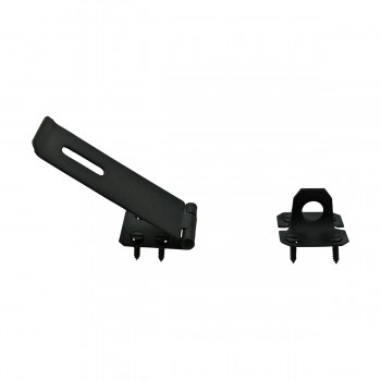 <PRE>Hasp Black Wrought Iron 1 5/8inch H x 5 7/8&quot; W </PRE>zoom5