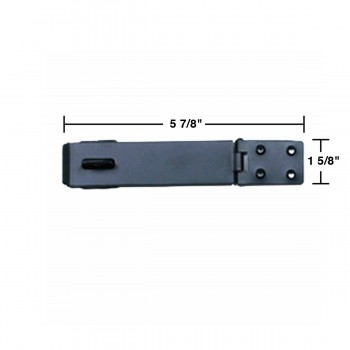 spec-<PRE>Hasp Black Wrought Iron 1 5/8&quot; H x 5 7/8&quot; W </PRE>