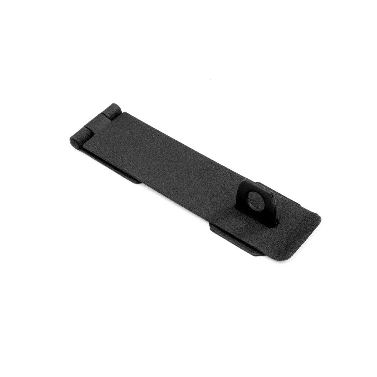 Hasp black cast iron 1 5 8 h x 8 1 4 w for Front door handle 7 5 inches