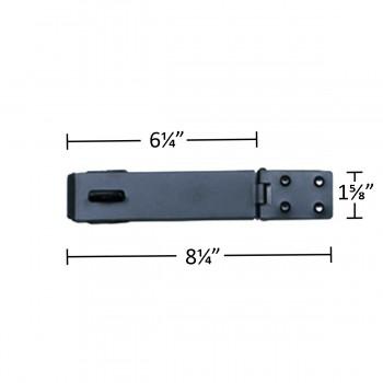 spec-<PRE>Black Cast Iron Medium Hasp 6.25 in inch Wide</PRE>