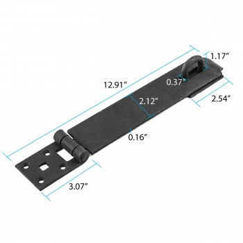 spec-<PRE>Door Hasp Latch Black Iron Hasp Lock 2 3/8 Inch X 12 3/4 Inch</PRE>