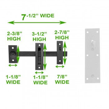 spec-<PRE>Black Iron Gate Door Latch Lock Norfolk Door Latches Hardware</PRE>